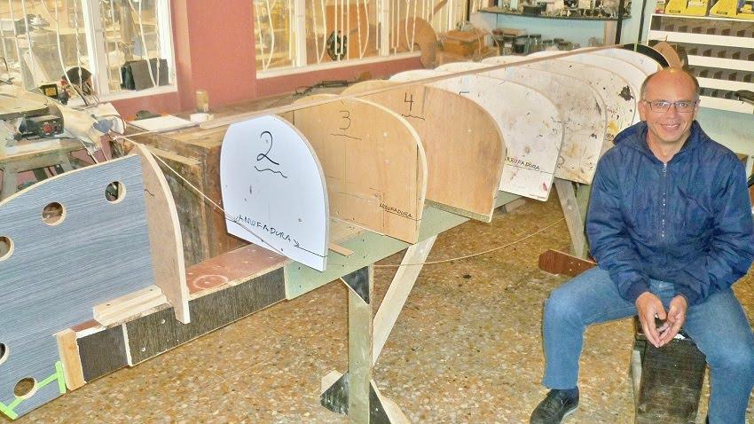 Prototipo canoa en desarrollo